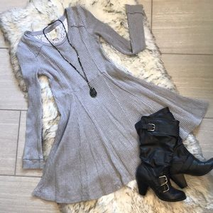 Anthro Grey Long Sleeve Dress by Eloise